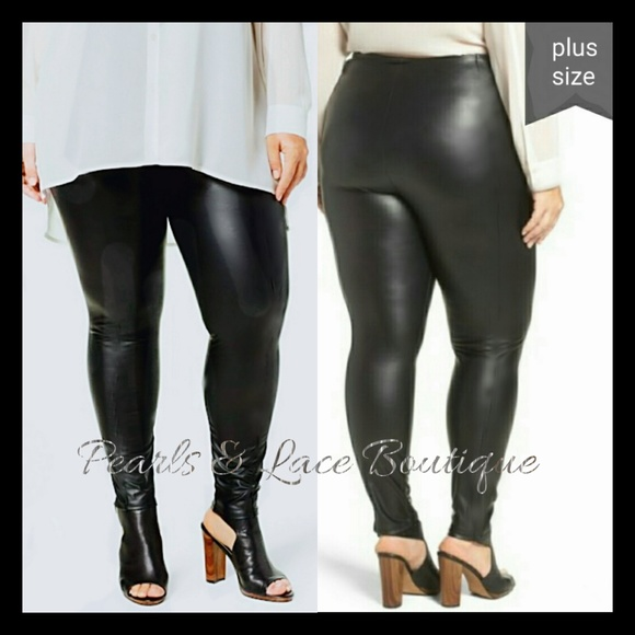 fe383f0c34778 Boutique Pants | Curvy Girls Faux Leather Leggings | Poshmark
